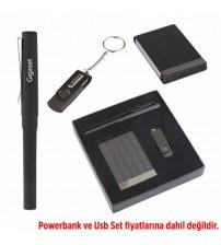 AK340 Hediyelik Set (Kalem, Usb Bellek, Kartvizitlik) - USB Fiyata dahil değildir.