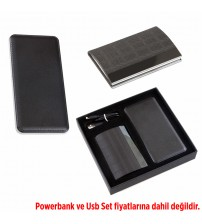 AK856 Hediyelik Set (Powerbank, Kartvizitlik) - Powerbank fiyata dahil değildir.