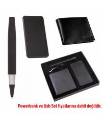 AK859 Hediyelik Set (Powerbank, Cüzdan, Kalem) - Powerbank fiyata dahil değildir.